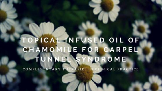 chamomile oil, carpel tunnel